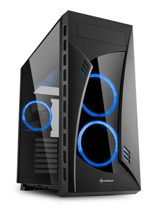 Caja Torre Sharkoon NIGHT SHARK Midi ATX Tower Negro