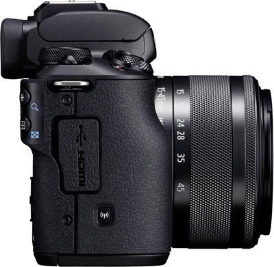 Cámara Canon M50 24MP WiFi Negra + Objetivo EF-M ...