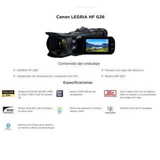 CANON LEGRIA HF G26 EU18 SD/SDHC/SDX 2.91/2.07MP ...