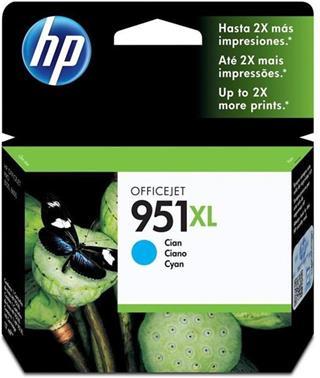CARTUCHO TINTA HP 951XL CYAN PARA D7Z36A/A7F64A/CM749A/CM770A/CV