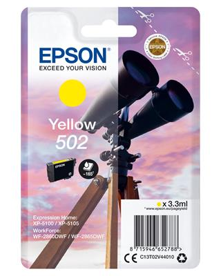 Cartucho epson yellow 502