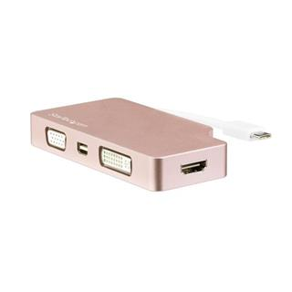 STARTECH ROSE GOLD USB-C ADAPTER - USB   C TO VGA DVI HDMI OR MD