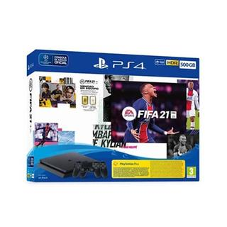 CONSOLA SONY PS4 500GB + FIFA 21 + DUAL