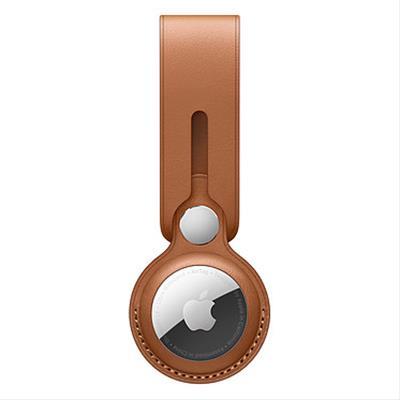 Correa De Piel Para Apple Airtag marrón