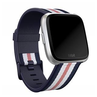 Correa Fitbit Versa Woven navy rosa P