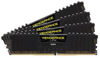 CORSAIR MEMORIA DDR4 16GB 2x8GB Vengeance LPX Black