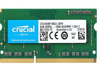 Crucial 4GB DDR3 1866 MT/s PC3-14900 SODIMM