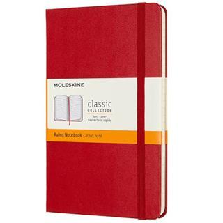 Cuaderno de rayas MOLESKINE mediano tapa dura ROJO