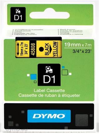 Cintas Dymo D1 S0720880 19MMX7M negro/amarillo