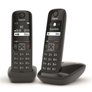 DECT GIGASET AS690 DUO BLACK    BLACK