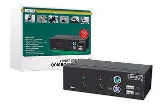 Digitus by Assmann CONMUTADOR COMBO-KVM USB-PS/2