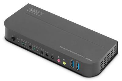 Digitus by Assmann KVM SWITCH  2X1 DP  DP/HDMI ...