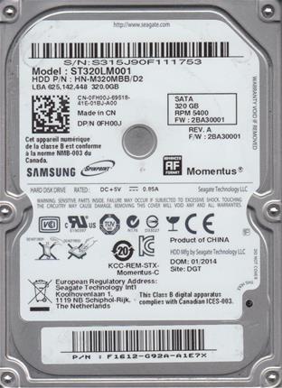 HD 2.5' SAMSUNG 320GB SATA OUTLET