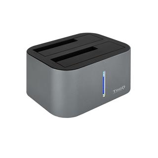 DOCK STATION DOBLE SATA 2.5/3.5 A TOOQ USB 3.0/3.1 GRIS