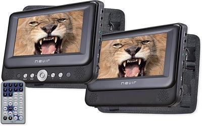 "Dvd portatil Nevir Nvr-2772 doble pantalla 7"" ..."