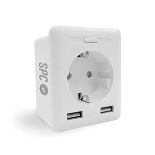 ENCHUFE INTELIGENTE SPC CLEVER PLUG USB 2XUSB/SPC ...
