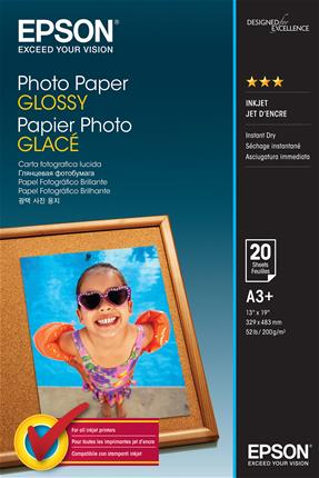 Papel Epson Photo Glossy A3+ 20hojas