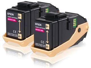 Tóner magenta Epson AcuBrite 7.5k doble pack