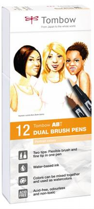 ESTUCHE 12 ROTULADORES DUAL BRUSH DOBLE PUNTA ...