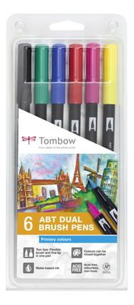 Pack 6 rotuladores Tombow ABT-6P-1 doble punta ...