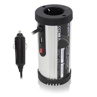 Inversor de corriente Ewent Eminent 12V a 230V (150W) USB2.1A