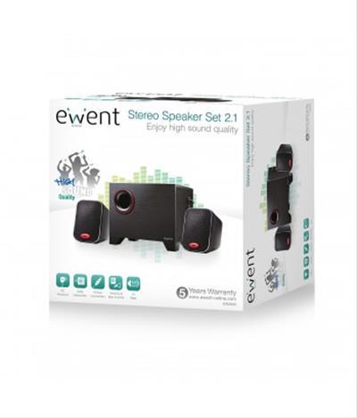 Ewent EW3505 conjunto de altavoces 15 W Negro 2.1 ...