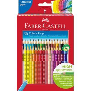Faber-Castell ESTUCHE 36 LAPICES COLOR GRIP FABER ...
