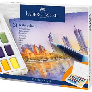 Faber-Castell ESTUCHE CON 24 ACUARELAS CREATIVE ...