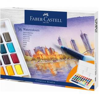 Faber-Castell ESTUCHE CON 36 ACUARELAS CREATIVE ...