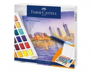 Faber-Castell ESTUCHE CON 48 ACUARELAS CREATIVE ...
