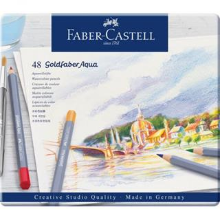 Faber-Castell ESTUCHE DE METAL CON 48 LÁPICES DE ...