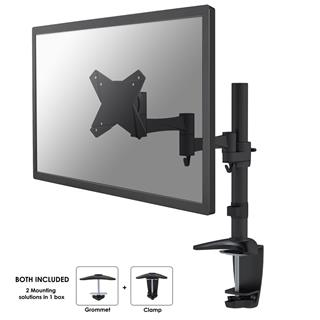 "Newstar Desk Mount 10-30"" Clamp Full Motion BLK"