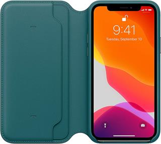 Funda Apple iPhone 11 Pro libro pavo real
