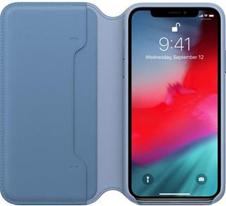 Funda Apple iPhone XS libro piel azul