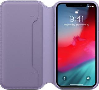 Funda Apple iPhone XS libro violeta