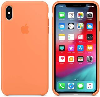Funda Apple iPhone XS Max silicona papaya