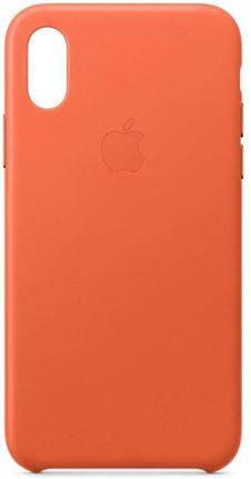 Funda Apple iPhone XS piel naranja