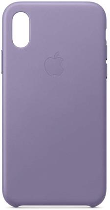 Funda Apple iPhone XS piel violeta