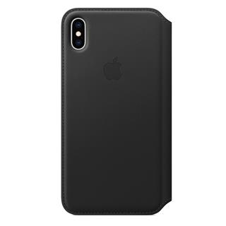 Funda Piel Folio iPhone XS MAX Negro