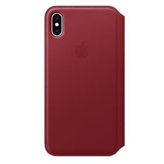 Funda Piel Folio iPhone XS MAX Rojo