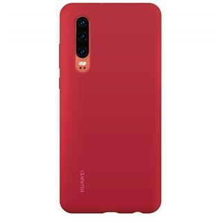 Funda silicona Huawei P30 roja