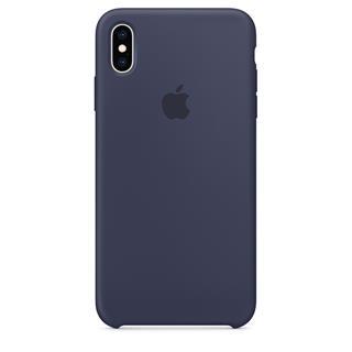 Funda Silicone Case iPhone XS Max Azul noche