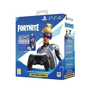 Mando inalámbrico Sony DualShock 4 Negro V2 + Fortnite PS4