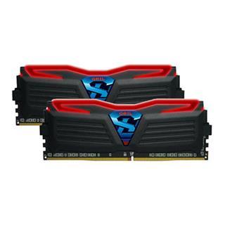 MODULO DDR4 8GB 2400MHZ GEIL BLACK HEATSINK SYSTEM RED LIGHT