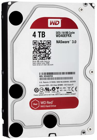 """HD 3.5"""" WESTERN DIGITAL 4TB SATA 3 64MB RED ..."""