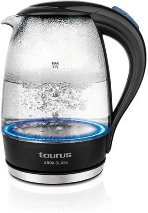 Hervidor agua Taurus Aroa Glass 2200W