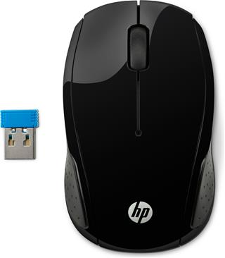 Hewlett Packard RATON HP WIRELESS MOUSE 200 BLACK