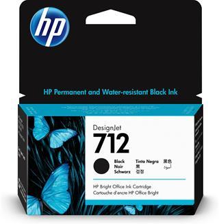 Tóner Hp  INC 712 38-ml  Black DesignJet Ink ...