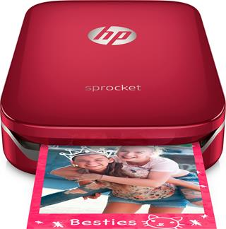 Impresora de fotos HP Sprocket roja
