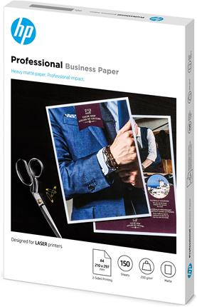 Papel HP profesional mate A4 200g 150hojas
